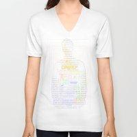 prometheus V-neck T-shirts featuring David8 - Prometheus by Chubbybuddhist