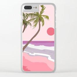 Tropical Landscape 01 Clear iPhone Case
