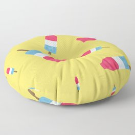Popsicles - Retro Pattern  Floor Pillow