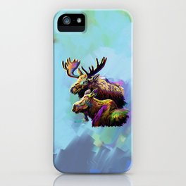 Colorful Moose iPhone Case