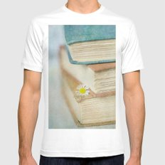 Read MEDIUM White Mens Fitted Tee