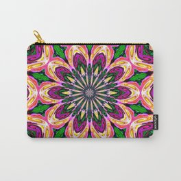 Abstract colorful Heart Flower Seamless Pattern Vector illustration Carry-All Pouch