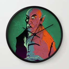 Nosferatu At Rest Wall Clock