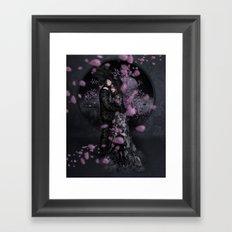 Bakeneko and Kitsune under the Sakura Tree Framed Art Print