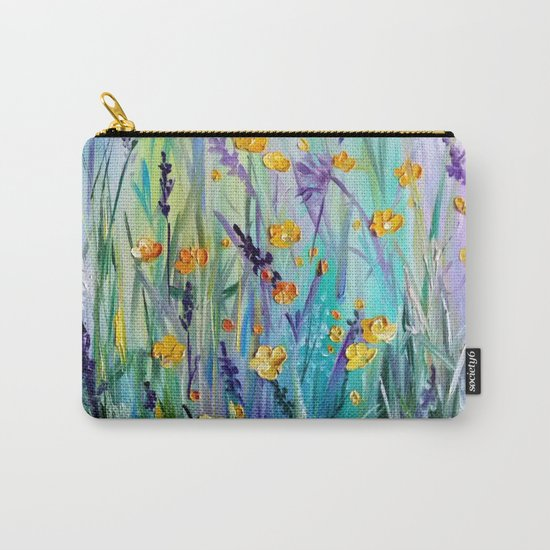 Flowers field at dawn Carry-All Pouch