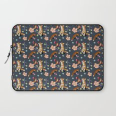 Fox and flowers Laptop Sleeve