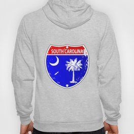 South Carolina Flag Icons As Interstate Sign Hoody