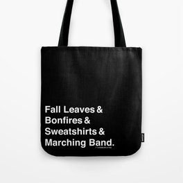 Fall Leaves & Marching Band Tote Bag