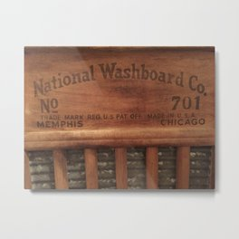 Antique washboard Metal Print