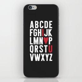ABC I Love You {dark} iPhone Skin