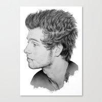 luke hemmings Canvas Prints featuring Luke by Drawpassionn