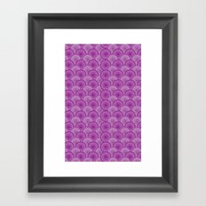 Circular Wave Framed Art Print