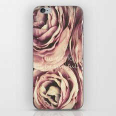 The World is Beautiful iPhone & iPod Skin