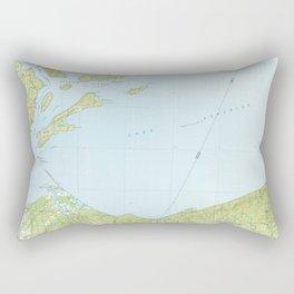 WI Ashland 503638 1989 topographic map Rectangular Pillow