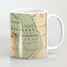 Map of Palestine Divided by the 12 tribes from 1889 Coffee Mug