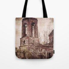 Church in ruins Tote Bag