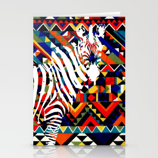 Tribal Zebra Stationery Cards