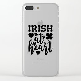 Irish At Heart Black Clear iPhone Case
