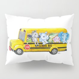 Animal SchoolBus Pillow Sham