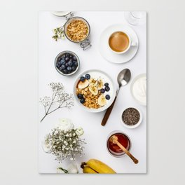 healthy breakfast Canvas Print