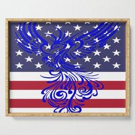 America Is Reborn Pro Democratic Phoenix Serving Tray