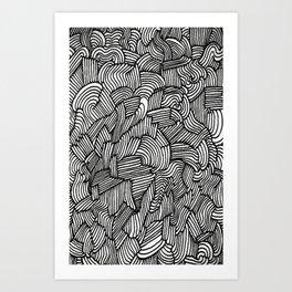 Follow The Lines Art Print
