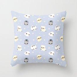 Arctic Babies Throw Pillow
