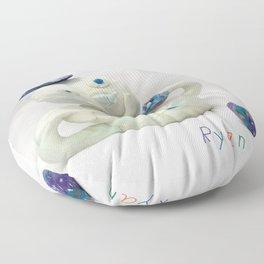 Snowman Sculpture Floor Pillow