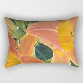 Garden Blooms - Orange Rectangular Pillow