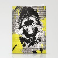 puppy Stationery Cards featuring puppy by Ezgi Kaya