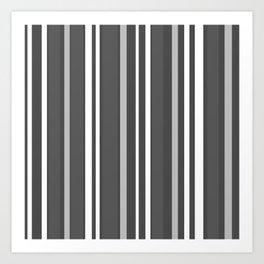 Grey Scale Lines Art Print