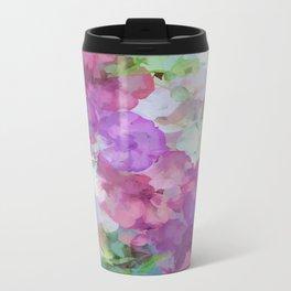 Sweet Peas Floral Abstract Travel Mug
