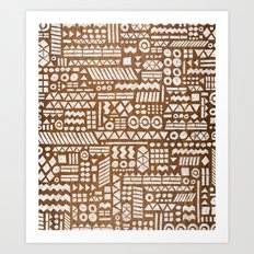 Northwoods Pattern. Art Print