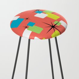 Living Coral Retro Inspired Counter Stool