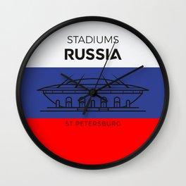 Russia Stadiuns   St. Petersburg Wall Clock