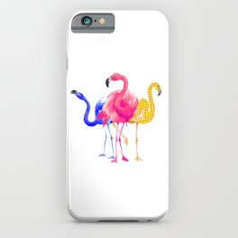 Catwalk Flamingos iPhone Case