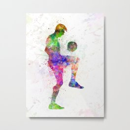 man soccer football player Metal Print