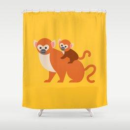 Monkey baby Shower Curtain
