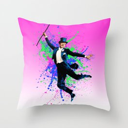 Astaire Fred, still dancing. Throw Pillow