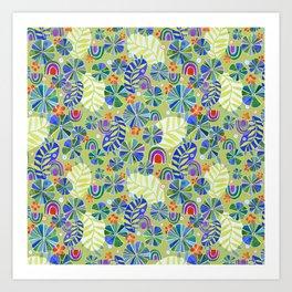 Nasturtiums and Rainbows Art Print
