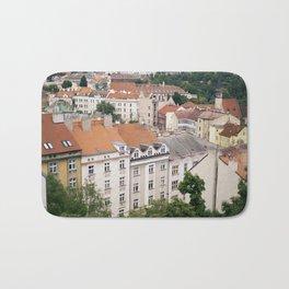 Prague Rooftops Bath Mat