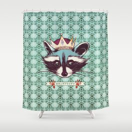 King Racoon · Ver.2 Shower Curtain
