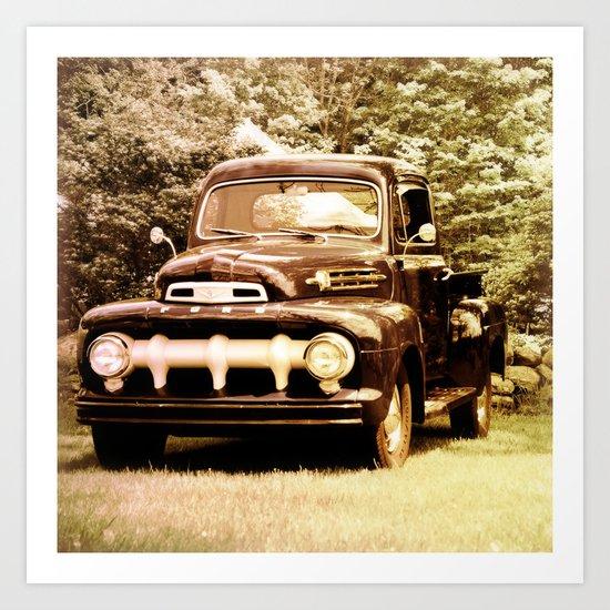 Ford in a Field Art Print