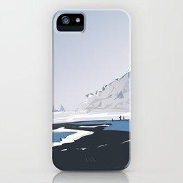 Vik Reynisfjara Black Sand Beach, Iceland Travel Poster iPhone Case
