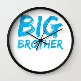 Big Brother Again Gift Promoted to Big Brother New Baby Sibling Wall Clock