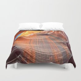 Geology Alive - Time Passage of Upper Antelope Canyon Duvet Cover