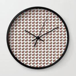Narrowboat art Jugs pattern Wall Clock