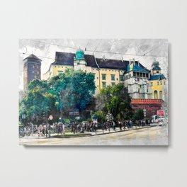 Cracow art 2 Wawel #cracow #krakow #city Metal Print