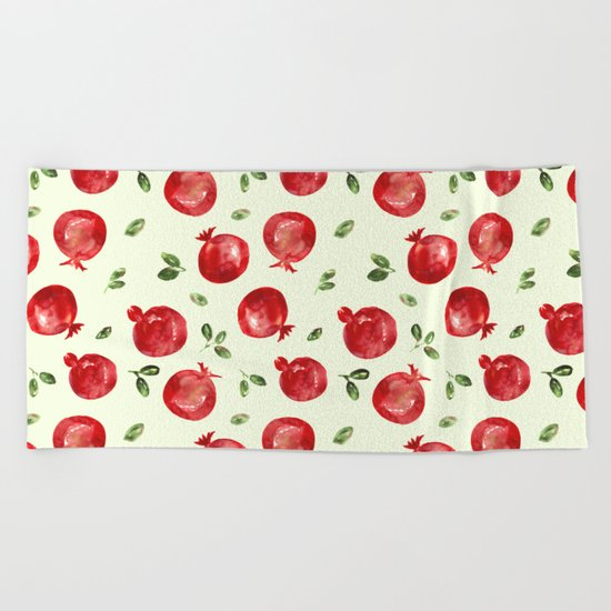 Pomegranate vibes Beach Towel