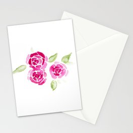 Cheerful Rose Stationery Cards